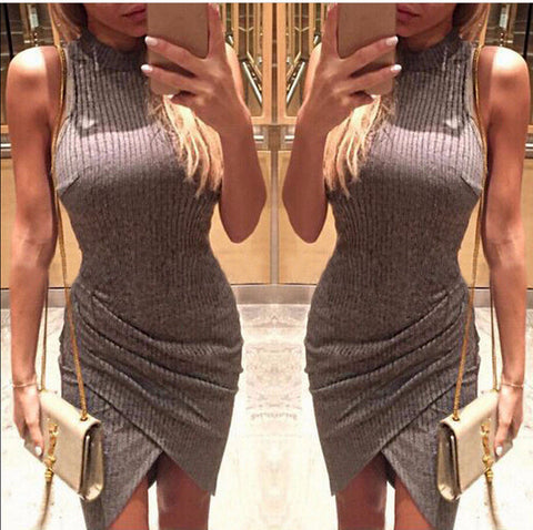 Stylish Sleeveless Slim Hip Party Dress