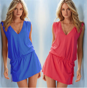 Beautiful Summer Sleeveless Casual Mini Dress