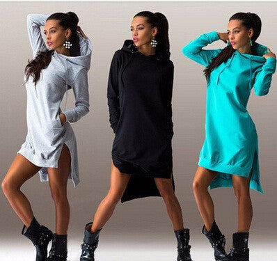 Womens Trendy Hoodie Long Sleeve Top Dress