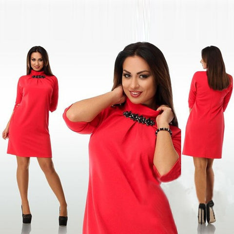 Womens Trendy Autumn Office Plus Size Dress