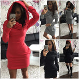 Womens Sexy Hoodie Casual Party Dress