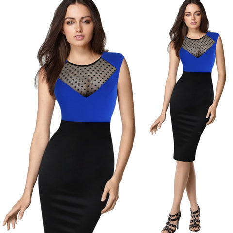 Womens Sexy Plus Size Color Pencil Skirt Dress