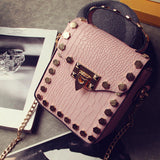 Womens Modern Mini Edgy Elegant Handbag