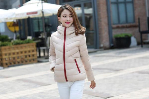 Womens Trendy Slim Fit Winter Down Jacket