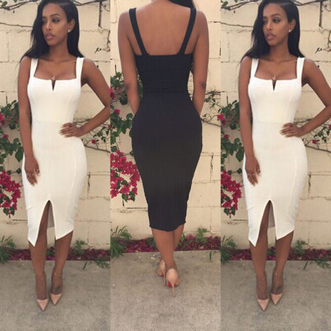 Womens Sexy Summer Slim Club Evening Dress