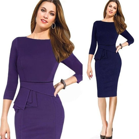 Womens Fashionable Cocktail Party Pencil Work Dress