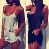 Trendy Cool Casual Tank Top Mini Shorts Outfit