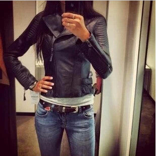 Trendy Edgy Womens Motorcycle Style Jacket