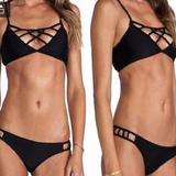 Trendy String Black Top Stylish Swimsuit Bikini