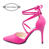 Womens Sexy Strappy Point Toe Stiletto High Heels