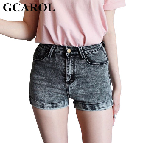 Womens Euro Style High Waist Denim Stretch Casual Basic Jeans Shorts