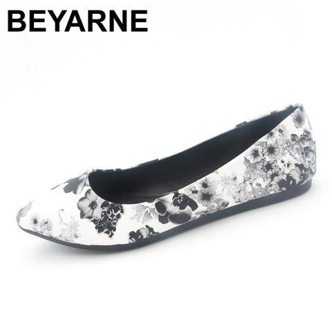 eb3f02f94119 Womens Leather Flats Flower Casual Pointy Toe Basic Ballerina Ballet Flat  Slip On Shoes