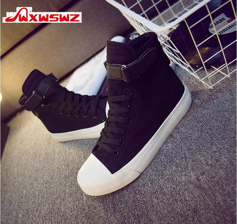 Womens Fashion High Top Sneakers Canvas Casual Shoes