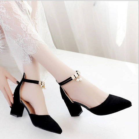 Womens Summer Fashion Pointed Toe Pumps Sandals Dress High Heels Shoes
