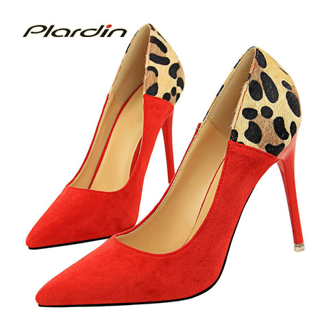 Womens Stylish Leopard Print Point Toe High Heel Sexy Heels