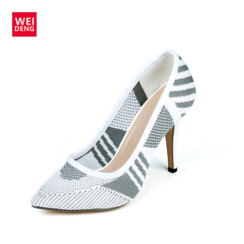 Womens Sexy Stilettos High Heel Pumps Mesh Breathable Ladies Pointed Toe Dress Wedding Shoes