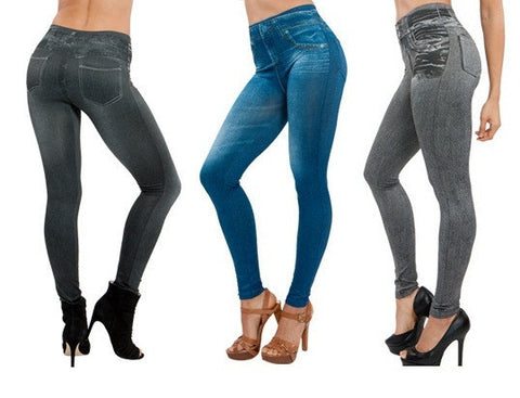 Womens Slim Jeans Leggings Denim Pants Stylish Jeggings