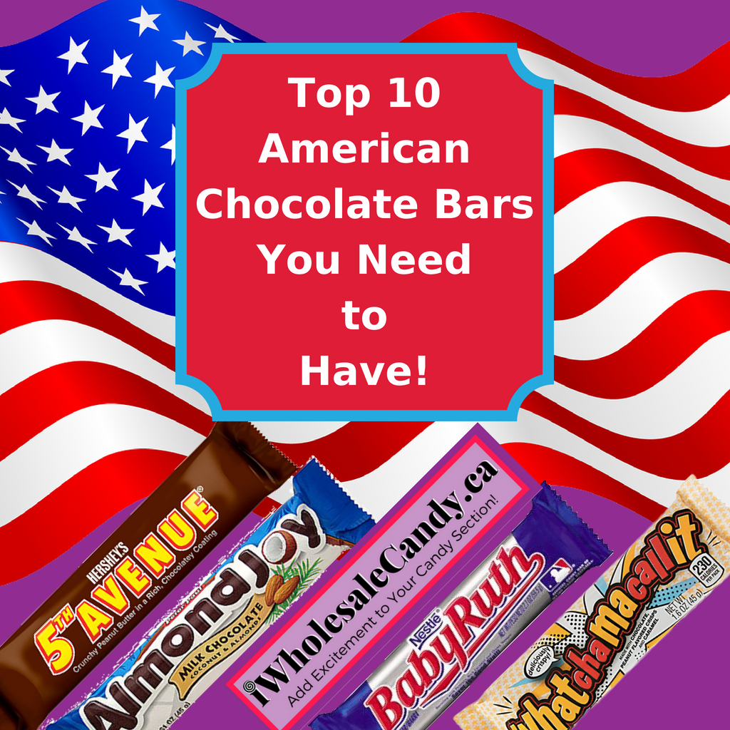 Top 10 American Chocolate Bars You Need-Wholesale Candy Canada