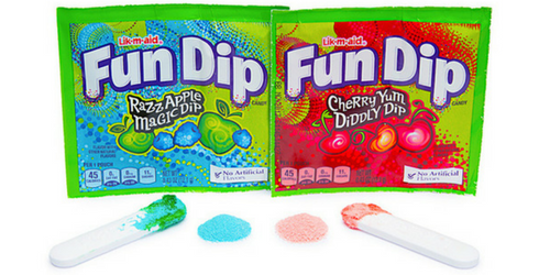 Fun Dip Retro Candy from Willy Wonka and the Chocolate Factory