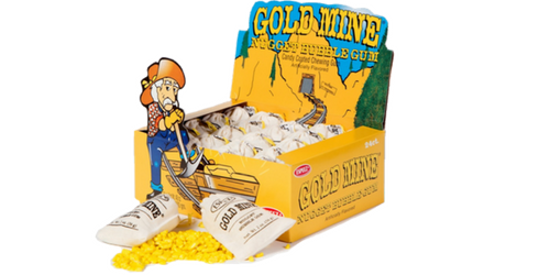 Gold Mine Bubble Gum Retro Candy