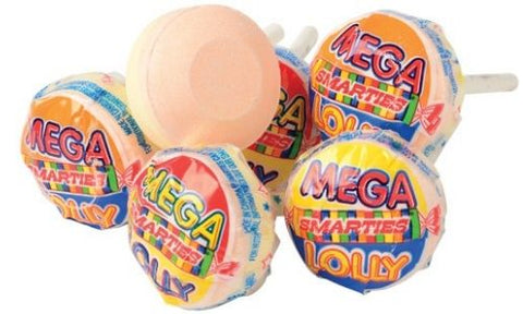 Smarties Mega Lollies Lollipops