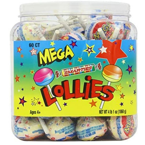 Smarties Mega Lollies Lollipops Retro Candy
