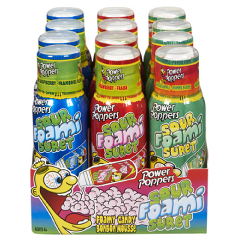 #5.Sour Poppers Sour Foam Candy