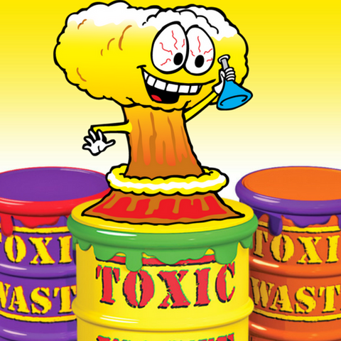 #4. Toxic Waste Sour Candy Drums