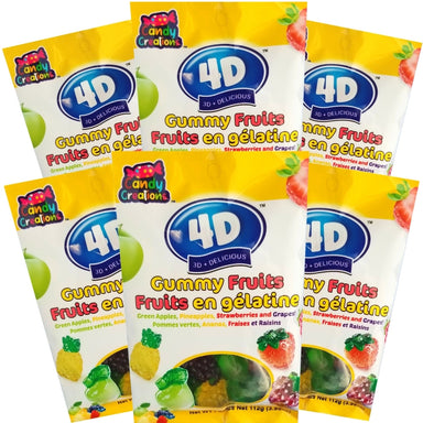 4D Gummy Fruits 112g - 24CT