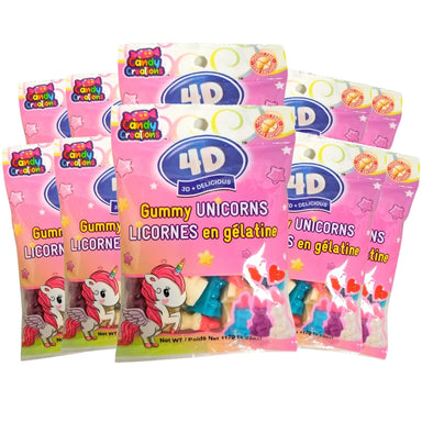 4D Gummy Unicorns Peg Bags 112g - 18CT