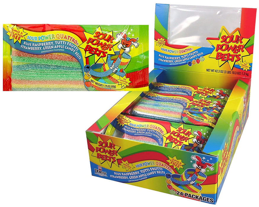 Sour Power Quattro Belts 1.75oz - 24CT