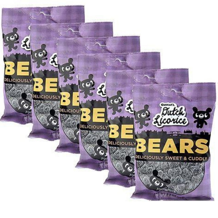 Gustaf's Sugared Licorice Bears - 5.29oz