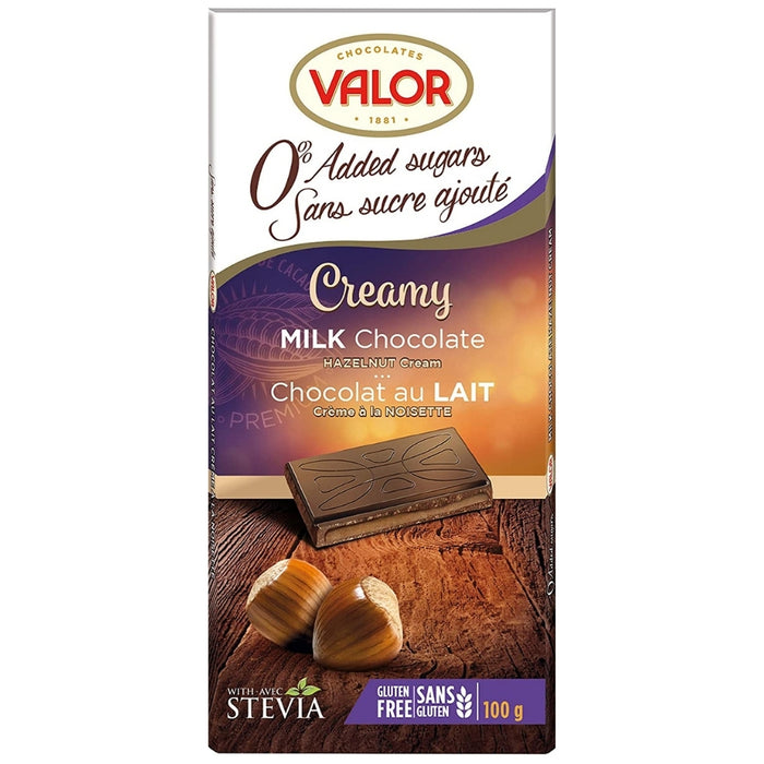 Valor No Sugar Added Milk Chocolate Hazelnut | iWholesaleCandy.ca