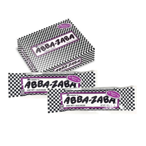 Abba-Zaba Mystery Flavour 1.25oz - 24 bulk Pack imported UK treats snacks goods chocolate confectionery taffy bars chewy old school retro nostalgic candy candies specialty food shipped Toronto Mississauga Canada international shipping worldwide