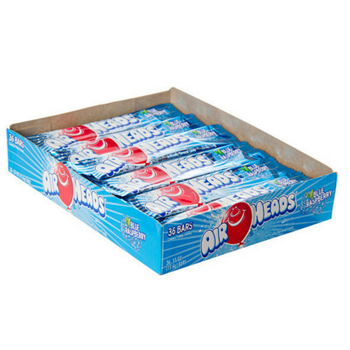 AirHeads Candy Blue Raspberry Taffy Bars-Retro Candy Toronto