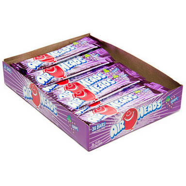 AirHeads Candy Blue Raspberry Taffy Bars 36 CT-Retro Candy Toronto