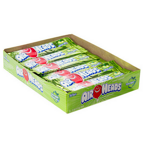 AirHeads Candy Green Apple Taffy Bars 36 CT-Retro Candy Toronto
