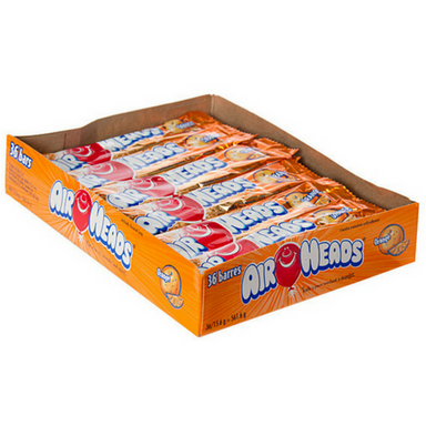 AirHeads Candy Orange Taffy Bars 36ct-Retro Candy Toronto