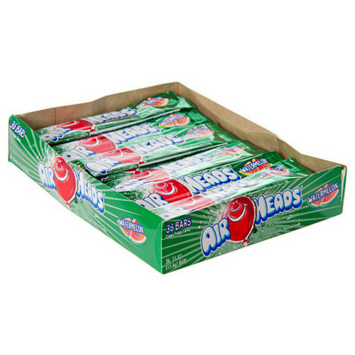 AirHeads Candy Watermelon Taffy Bars 36 CT-Retro Candy Toronto