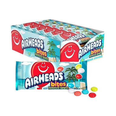 Air Heads Bites Paradise Blends Candy special edition unique flavours -170 g 2oz Imported, Shipped, & Delivered: International, World Wide Shipping, delivery Canada, GTA, Mississauga, Brampton, etc. Novelty confectionery wholesale online candy store: Buy exclusive, popular, top-rated, special edition, limited edition, premium snacks, treats, goods, gifts, gift sets, gift ideas, and more. |