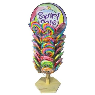 Large Swirl Pop Lollipops on a Wooden Tree-Wholesale Candy Toronto