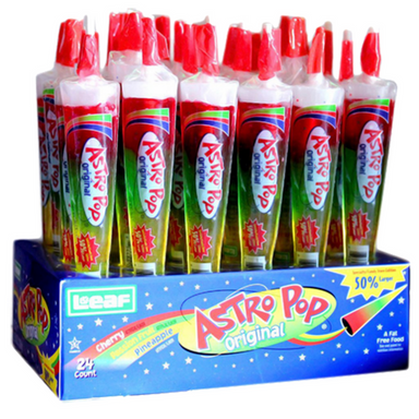 Astro Pop Original Lollipops Retro Candy 24 CT