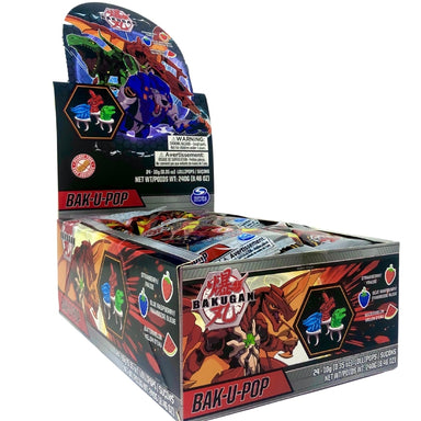 Bakugan Bak-U-Pop Ring Lollipop 10g - 12CT