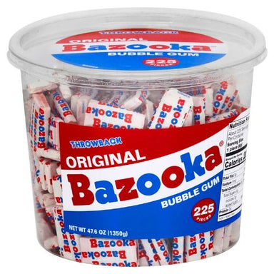 Bazooka Original Throwback Bubble Gum-225 Count Tub