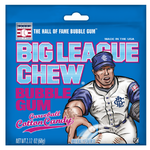 Big League Chew Bubble Gum-Curveball Cotton Candy