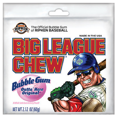 Big League Chew Bubble Gum-Outta Here Original