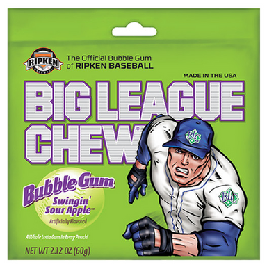 Big League Chew Bubble Gum-Swingin' Sour Apple