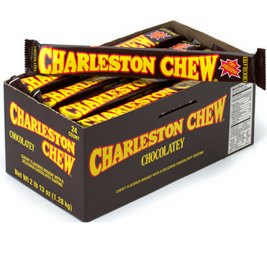 Charleston Chew Candy Bars-Chocolate-Box of 24