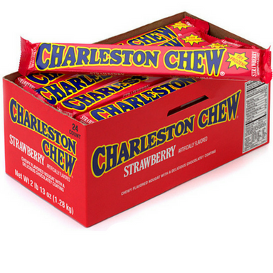 Charleston Chew Candy Bars-Strawberry-Box of 24
