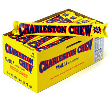Charleston Chew Candy Bars-Vanilla-24 Count Box